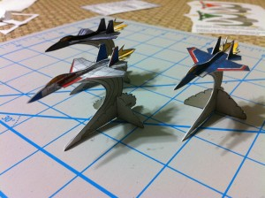 Miniatur-Jets Papiermodelle
