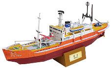 Forschungsschiff Soja fuer den Einsatz in der Antarktis als Kartonmodell zum Download