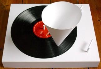 Papier-Plattenspieler