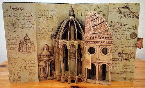 """Pop-up aus dem Buch """"Leonardo da Vinci - Erfindungen eines Genies"""""""