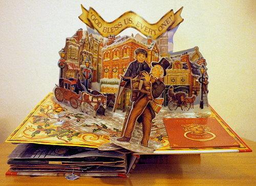 "Pop-Up aus dem Buch ""A Christmas Carol"""