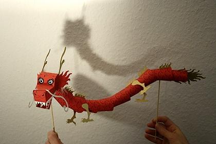 Papiermodell Chinesischer Drachen