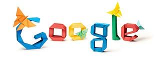 Ein Origami-Logo von Google