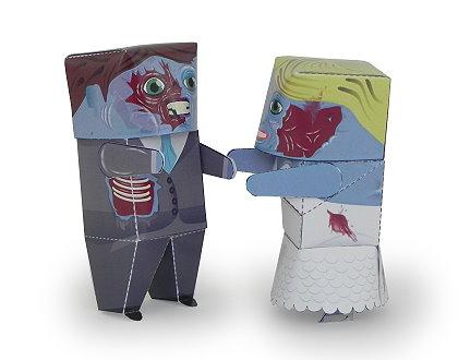 Zombie Ehepaar Papertoy