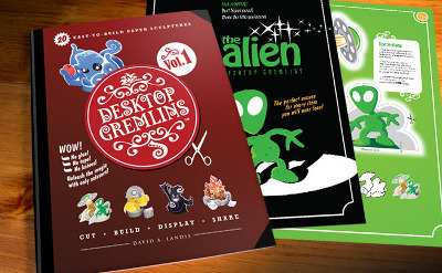 Das geplante Desktop-Gremlins-Buch in der Vorschau bei Kickstarter.com
